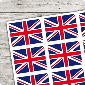 Motivaufkleber very british - Union Jack eckig