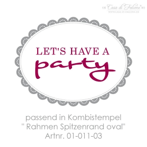 Textstempel Let's have a party - Bild 2
