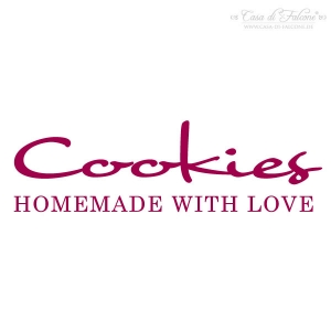 Textstempel Cookies homemade with Love