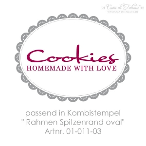 Textstempel Cookies homemade with Love - Bild 3