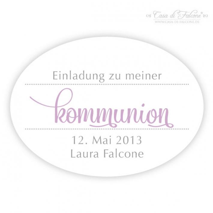 ... Personalisierte Aufkleber Einladung Zur Kommunion Konfirmation   Bild 2