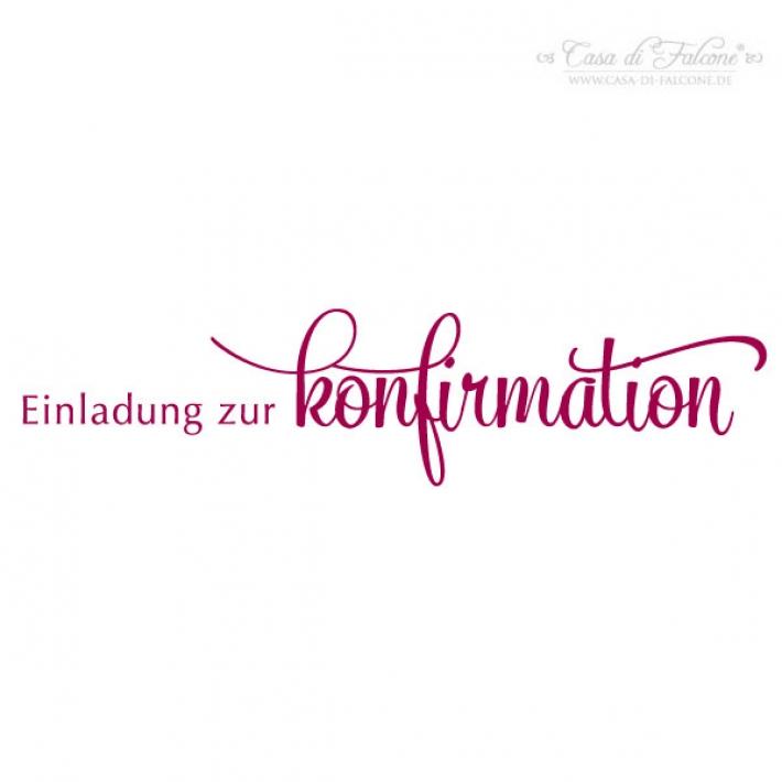 Stempel Einladung Zur Konfirmation Klassik III