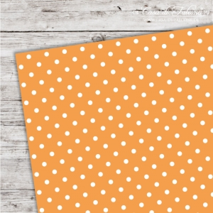 A5 Karton Polka Dots orange