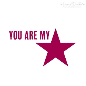 Textstempel you are my star