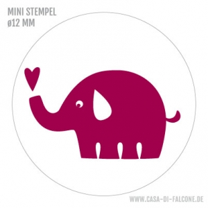 Mini Motivstempel Elefant