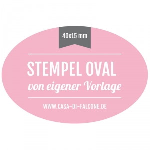 Stempel oval 40x15 mm