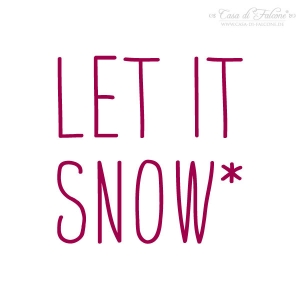 Textstempel Simple let it snow
