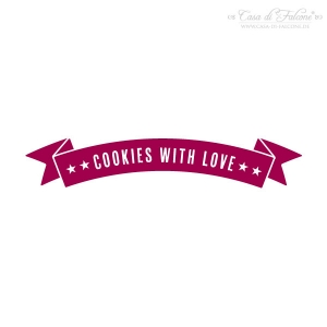 Textstempel Banner cookies with love