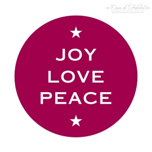 Motivstempel Joy Love Peace