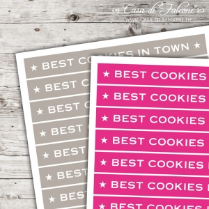 Textaufkleber - stretched - Best cookies in town