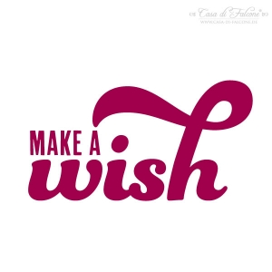 Textstempel make a wish