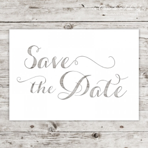 Karte Lasercut Save the Date