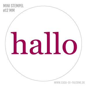 MINI Textstempel hallo
