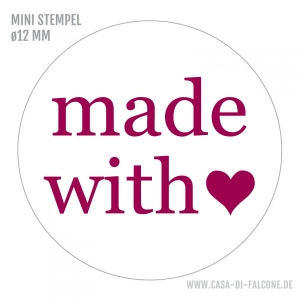 MINI Textstempel made with ♥
