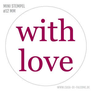 MINI Textstempel with love