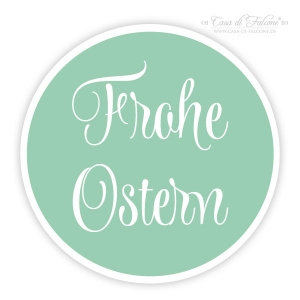 Aufkleber Frohe Ostern, swash