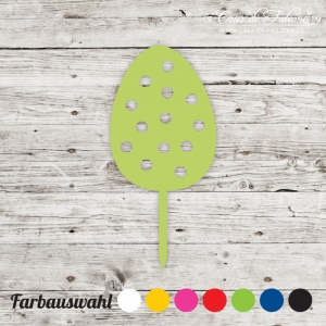 Cupcake topper Osterei Dots