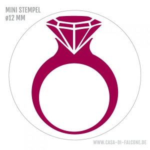Mini Motivstempel Diamantring