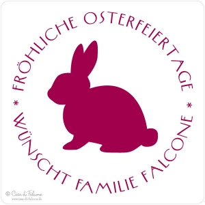Osterstempel Hase