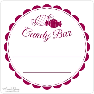 Motivstempel Candy Bar