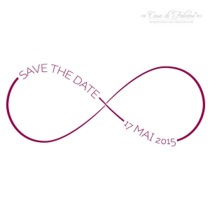 Stempel Save the date personalisiert, Infinity