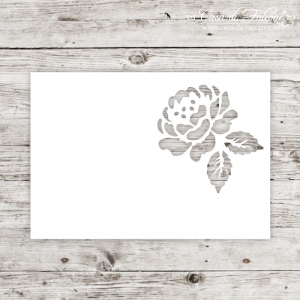 Karte Lasercut Rose