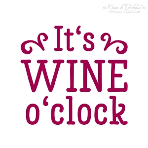 Stempel It's wine o'clock