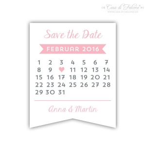 Aufkleber Save the Date Kalender