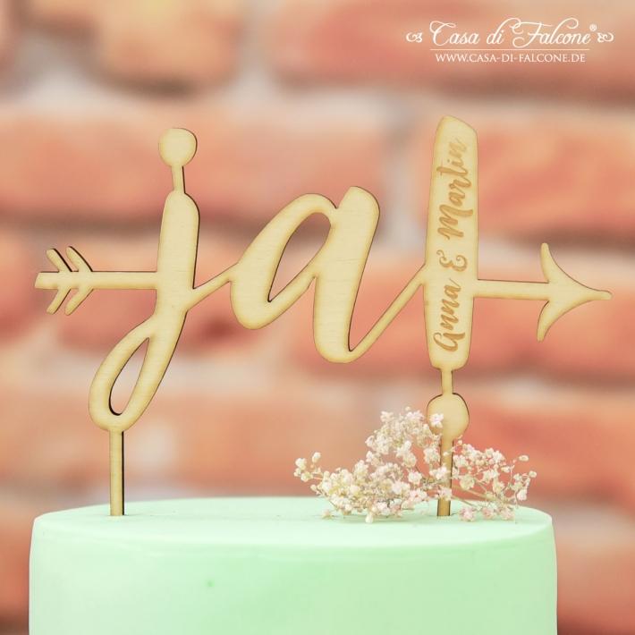 Personalisierter Hochzeit Cake Topper Aus Holz Ja Pfeil I