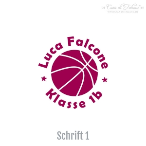 Namensstempel Basketball - Bild 2