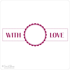 Motivstempel Label with love