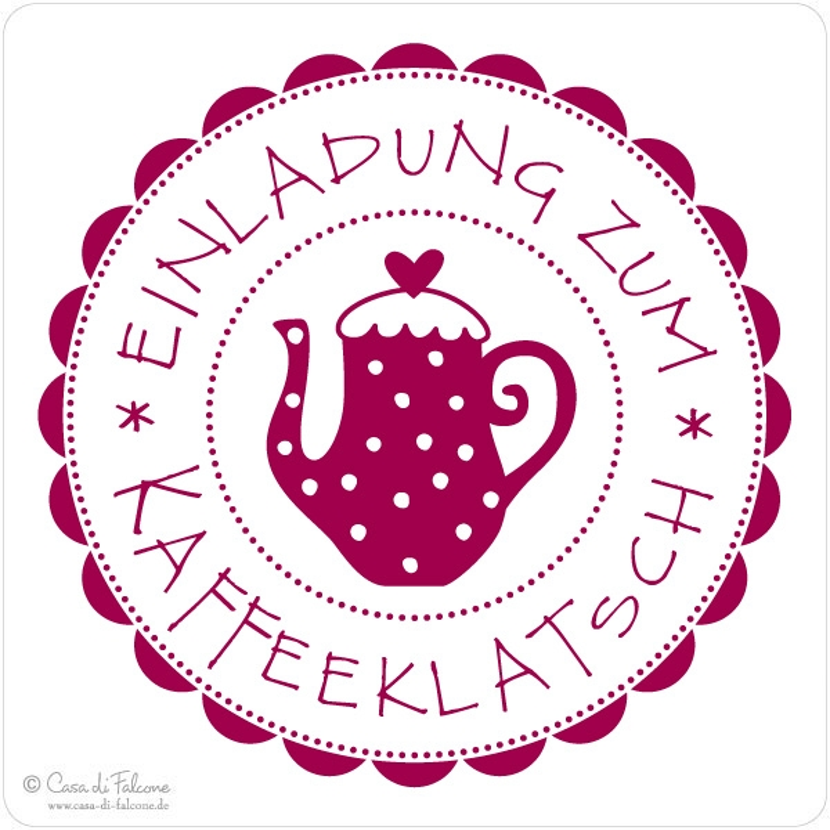 Motivstempel Kaffeeklatsch - Casa di Falcone