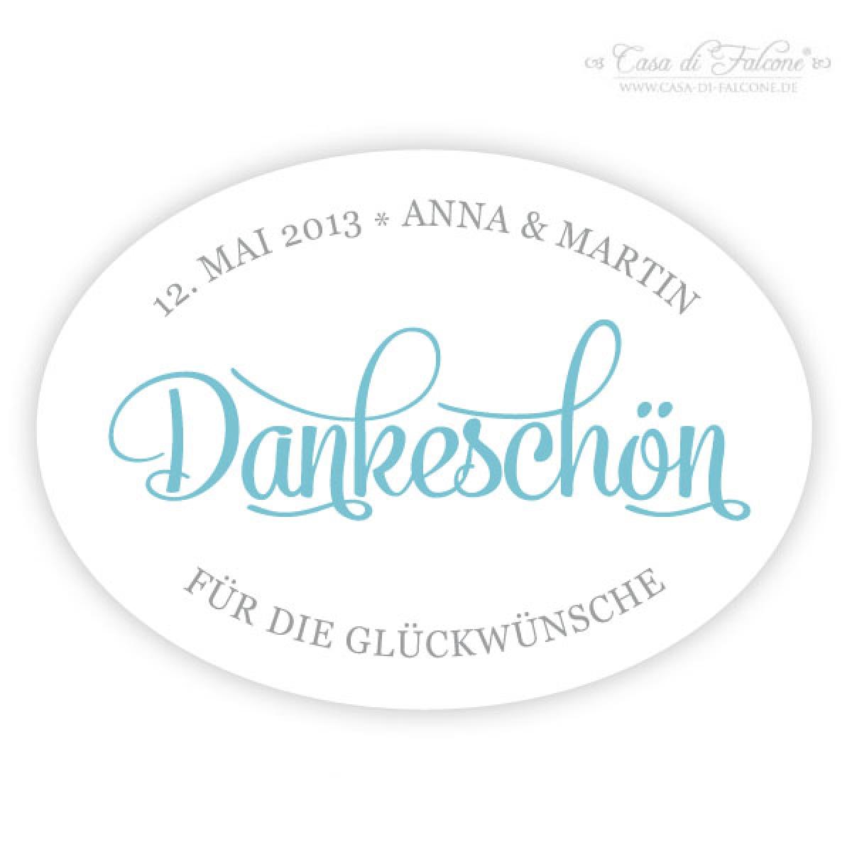 Personalisierte Hochzeit Aufkleber für Gastgeschenke, Klassik - Casa ...