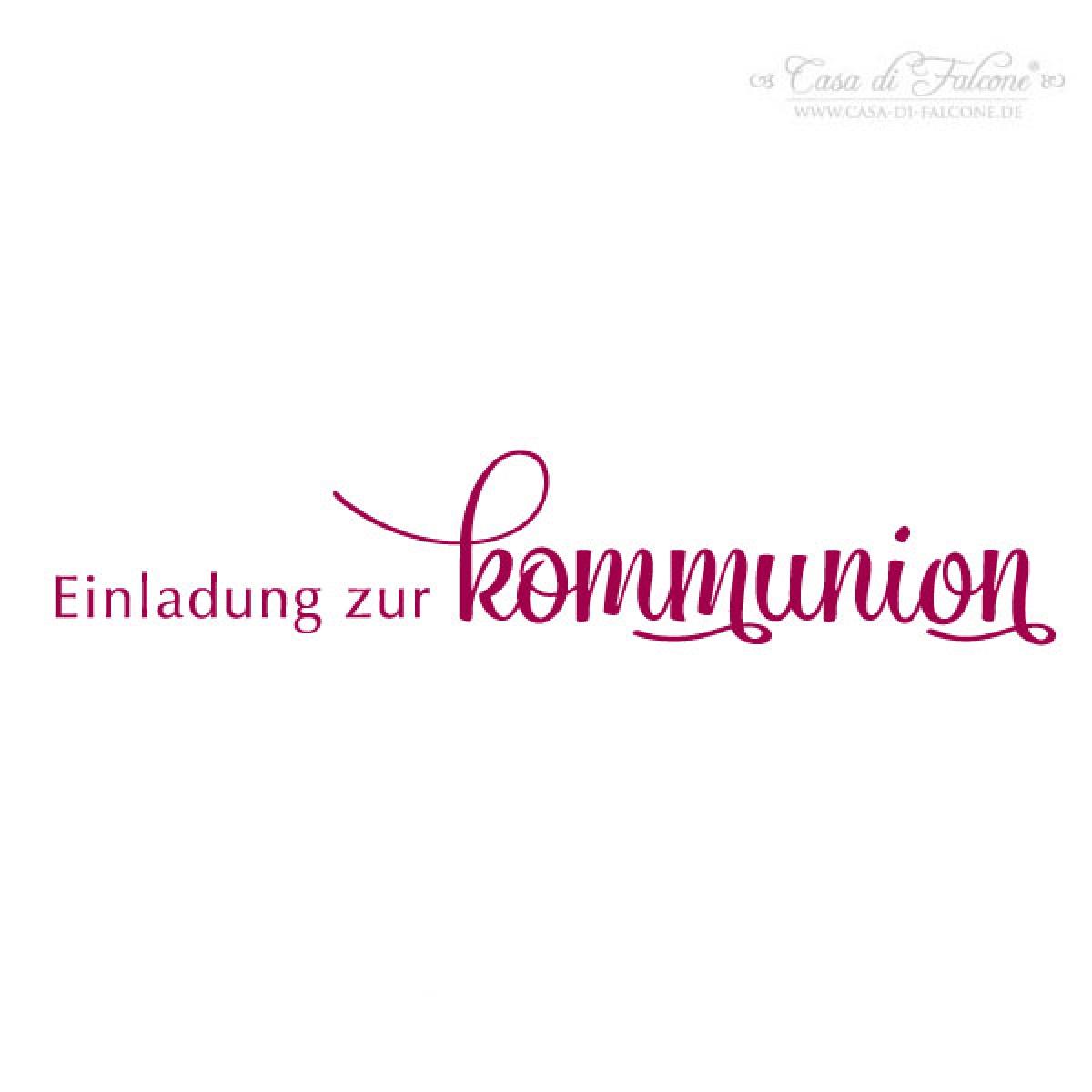 Stempel Einladung Zur Kommunion Klassik III