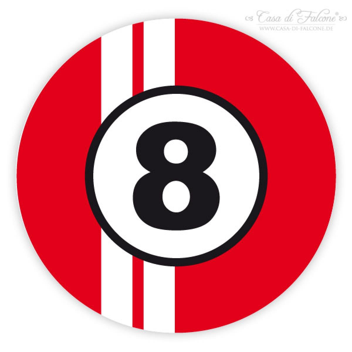 Aufkleber Autorennen Zahl Casa Di Falcone