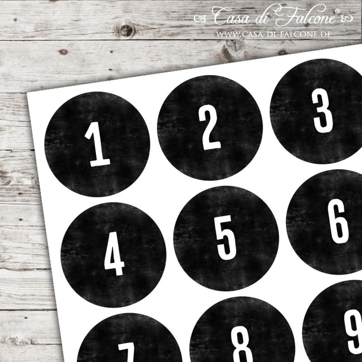 Adventskalender Zahlen Aufkleber Chalkboard Casa Di Falcone