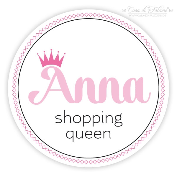 Aufkleber Shopping Queen Personalisiert on Kindergarten Queen