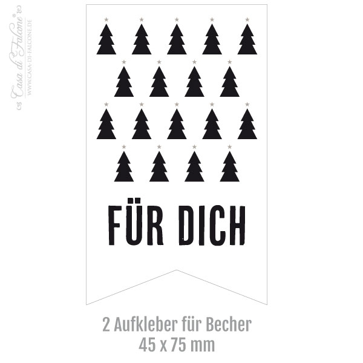 keksverpackung weihnachten 2er set tannenbaum schwarz weiss casa di falcone. Black Bedroom Furniture Sets. Home Design Ideas