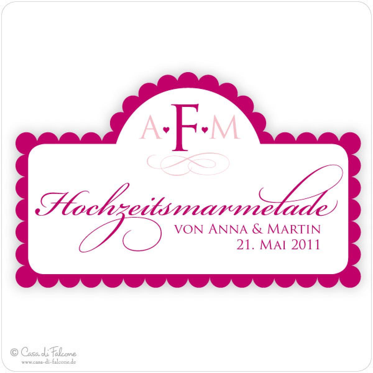 Elegance Aufkleber Für Hochzeitsmarmelade Casa Di Falcone