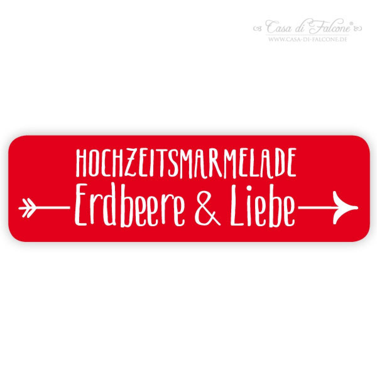 Hochzeit Etiketten Für Marmeladengläser Pfeil I Aufkleber