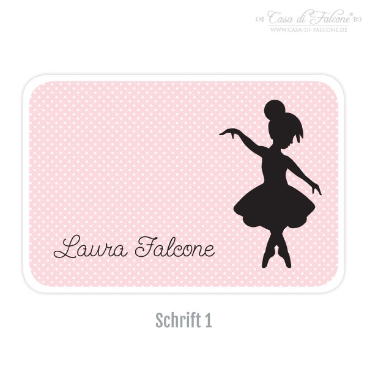 personalisierte brotdose i butterbrotdose ballerina casa di falcone. Black Bedroom Furniture Sets. Home Design Ideas