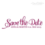 Textstempel - Klassik III - Save the Date