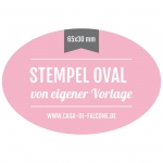 Stempel oval 65x30 mm