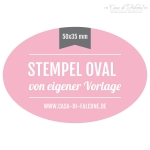 Stempel oval 50x35 mm