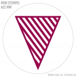 Mini Motivstempel Wimpel stripes