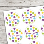 Motivaufkleber Konfetti - for you