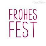 Textstempel Simple Frohes Fest