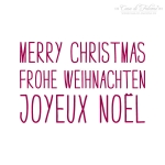 Textstempel Simple Merry Christmas