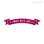 Textstempel Banner made with love