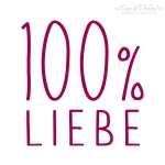 Textstempel Simple 100% Liebe